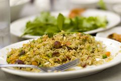 Rice Dish. Asian rice dish Royalty Free Stock Images