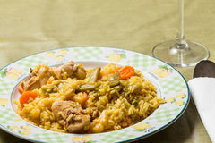 Rice dish with rabbit Royalty Free Stock Photography