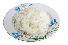 Rice and dish. Rice is the seed of the monocot plants. is the most widely consumed staple food for a large part of the world's human population Stock Photo