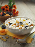 Rice with dried fruit royalty free stock image