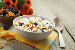 Rice with dried fruit royalty free stock images