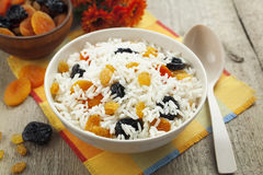 Rice with dried fruit Stock Image