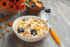Rice with dried fruit Stock Photography