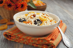 Rice with dried fruit Stock Photo