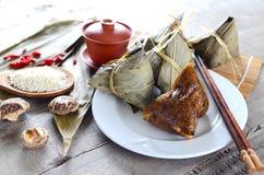 Rice Dumpling. Asian Chinese Rice Dumpling, Zongzi Stock Photo