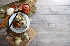 Rice Dumpling. Asian Chinese Rice Dumpling, Zongzi Royalty Free Stock Photo