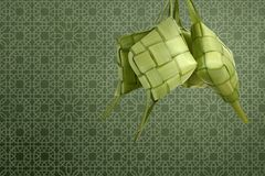 Rice dumpling ketupat for decoration at traditional festive Royalty Free Stock Photo