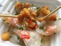 Rice dumplings with shrimps, banh bot loc Royalty Free Stock Photo