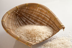 Rice in dustpan Royalty Free Stock Images