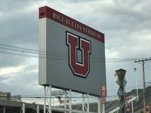 Rice Eccles Stadium in Salt Lake City, Utah. USA royalty free stock image