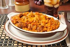 Rice enchilada casserole Stock Image