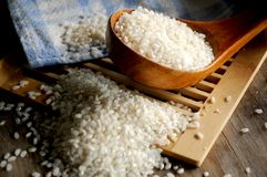 Rice esencial ingredient in oriental food Royalty Free Stock Photo