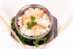 rice för 5 räkor Arkivfoton