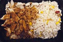 rice för pork för bbq-mål organisk Royaltyfria Bilder