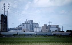 Industrial Rice Production Facility stock photos