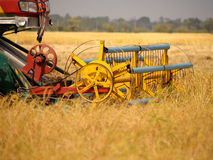 Rice farm and machine Stock Photography