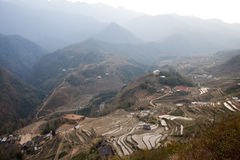 Rice fields near Sapa in Vietnam Stock Images