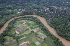 Rice Fields and Rivers Stock Photography