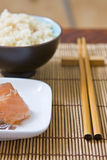 Rice and fish Stock Photo