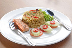Rice and fish Royalty Free Stock Image