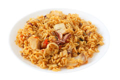 Rice with fish and squid Royalty Free Stock Photos