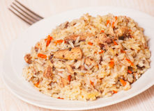 Rice with fish Stock Photos