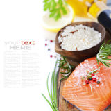 Rice, fish and white wine Royalty Free Stock Photo