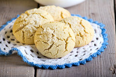 Rice flour cookies with coconut Royalty Free Stock Photography