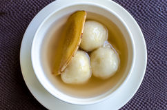 Rice flour dumpling in ginger syrup Stock Photo