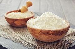 Rice flour Stock Photos