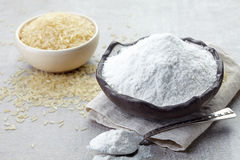 Rice flour and rice Stock Images