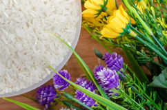Rice and flower Stock Photos
