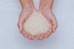 Rice. Food cereal isolated basmati Stock Photo