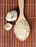 Rice and garlic Royalty Free Stock Photography