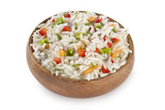 Rice garnish with vegetables Stock Photos