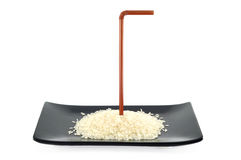 Rice Germ on dish Stock Images