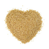 Rice germ. Heart shape of rice germ Royalty Free Stock Images