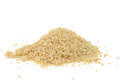 Rice germ. Pile on white background Stock Photography