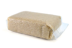 Rice germ. In plastic packing Royalty Free Stock Photo
