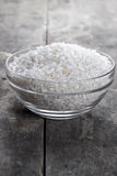 Rice in a glass bowl Royalty Free Stock Photo