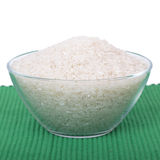 Rice in glass dish Stock Photography