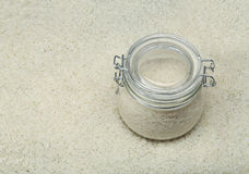 Rice in glass jar Royalty Free Stock Photo