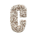 Rice grain forming an alphabet letter C. Different kinds of rice, grain lying and creating an alphabet letter C, different colors stock images