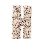 Rice grain forming an alphabet letter H. Different kinds of rice, grain lying and creating an alphabet letter H, different colors stock photo