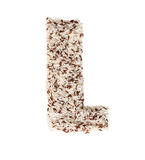 Rice grain forming an alphabet letter L. Different kinds of rice, grain lying and creating an alphabet letter L, different colors stock photography