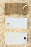 Rice grain and price tag Stock Image