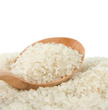 Rice grain in spoon Royalty Free Stock Photography