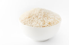 Rice Grains in a Bowl Royalty Free Stock Photo