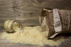 Rice grains in glass jar Royalty Free Stock Image