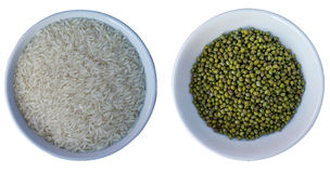 Rice and green bean Stock Images